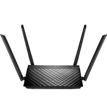 Рутер Asus RT-AC58U V3, 1300Mbps, 2.4GHz (400 Mbps)/ 5GHz (867 Mbps), Wireless AC, 4x LAN10/100/1000, 1x WAN10/100/1000, 4x външни антени image