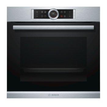 Фурна за вграждане Bosch HBG 633 NS1, клас А+, 71 л. обем, 4D горещ въздух, дисплей, инокс  image