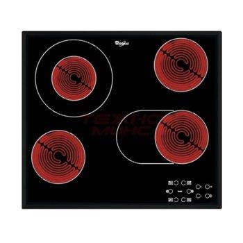Стъклокерамичен плот за вграждане Whirlpool AKT8190/BA, 6300W, 4 нагревателни зони, Touch управление, защита от деца, черен  image