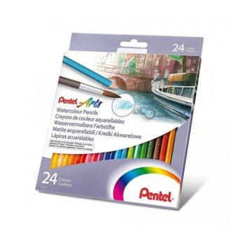 Цветни моливи акварел Pentel Arts, 24 цвята image