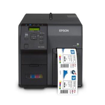 Етикетен принтер Epson ColorWorks C7500G, 1200 x 600 dpi, скорост 300mm/s, 1x LAN 10/100/1000 Base-T, 1x USB 2.0 image