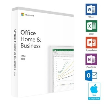 Софтуер Microsoft Office Home and Business 2019, Български, EuroZone, за Windows, Medialess P6, DVD носител image