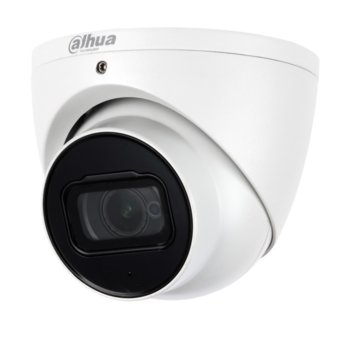 HDCVI камера Dahua HAC-HDW2802T-A-0280B, куполна камера, 8 Mpix (4К(3840x2160/15fps)), 2.8mm обектив, IR осветеност (до 50 метра), външна IP67 защита, вграден микрофон image