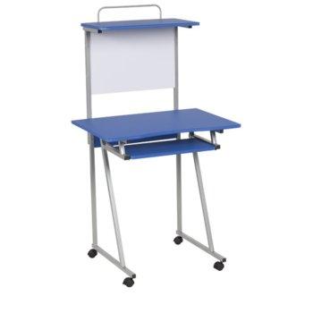 Детско бюро Carmen 30020, ПДЧ, меламиново покритие, изтеглящ плот за клавиатура, дъска за писане, синьо image