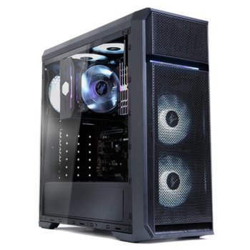 Кутия Zalman N5 OF, ATX/Micro-ATX/Mini-ITX, 1x USB 3.0, 3x White LED вентилатора, черна, без захранване image