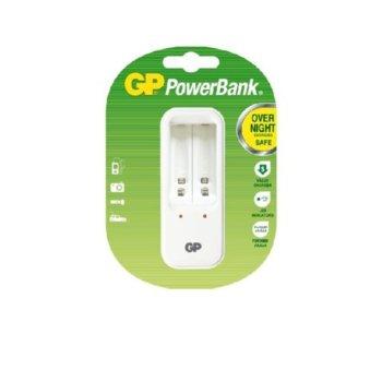 Зарядно устройство GP GPPB410GS, 2x слота, за NiMh NiCd AA/AAA батерии + 2x батерии image