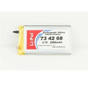 Литиева батерия LP734268, 3.7V, 2500mAh, Li-polymer, 1бр. image
