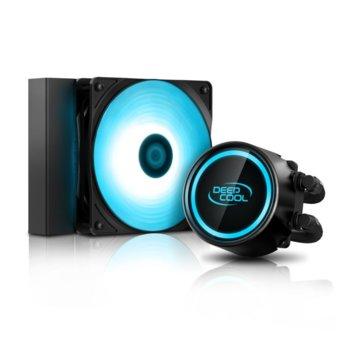Водно охлаждане за процесор DeepCool GAMMAXX L120 V2, съвместимост с Intel LGA 1151/1150/1155/1156/1366/2066/2011-v3/2011 & AMD AM4/FM2+/FM2/FM1/AM3+/AM3/AM2+/AM2, RGB подсветка image
