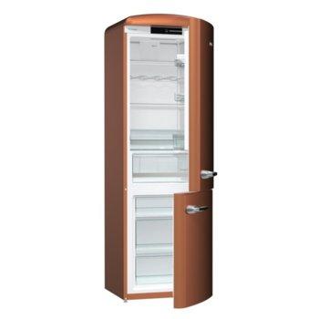Хладилник с фризер Gorejne ORK193CR, клас А+++, 326 л. общ обем, свободностоящ, FrostLess функция, меден цвят image