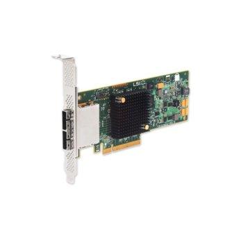 Контролер Broadcom SAS 9207-8E, от PCI-Express 3.0 x8(м) към 2x MiniSAS SFF8088, SATA/SAS 6Gb/12Gb/s, Fusion MPT 2.0 image