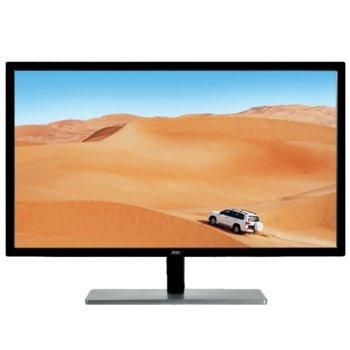 """Монитор AOC Q3279VWFD8, 31.5""""(80.01 cm), IPS панел, 75 Hz, QHD, 4 ms, 20M:1, 250 cd/m2, HDMI, VGA, DVI, DisplayPort image"""