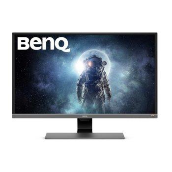 """Монитор BenQ EW3270UE (9H.LGVLA.FPE) в комплект със слушалки JBL Quantum 300, 31.5"""" (80.01 cm) VA панел, 4K/UHD, 4ms, 20 000 000:1, 300cd/m2, DisplayPort, HDMI, USB Type-C image"""