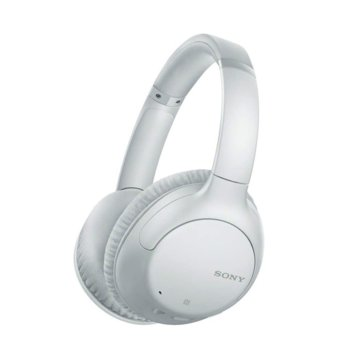 Слушалки Sony WH-CH710N, безжични, микрофон, до 35 часа време за работа, Bluetooth, бели image