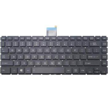 Клавиатура за Toshiba Satellite E45T-B L40-B S40-B, US, без рамка, черна image