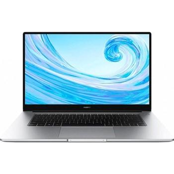 "Лаптоп Huawei Matebook D15 BohrB-WAI9A (6901443433841)(сребрист), двуядрен Comet Lake Intel Core i3-10110U 2.6/4.1 GHz, 15.6"" (39.62 cm) Full HD IPS Anti-Glare Display, (HDMI), 8GB DDR4, 256GB SSD, 1x USB-C, Windows 10 Home image"