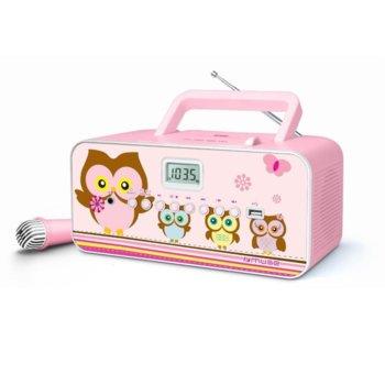 Радио Muse M-29 KP, CD player, FM/MW, MP3 плеър, 6x 1.5V тип LR14 батерии, розово image