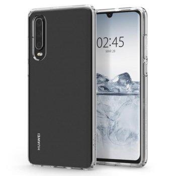 Kалъф за Huawei P30, силиконов, Spigen Liquid Crystal case L38CS25736, прозрачен image
