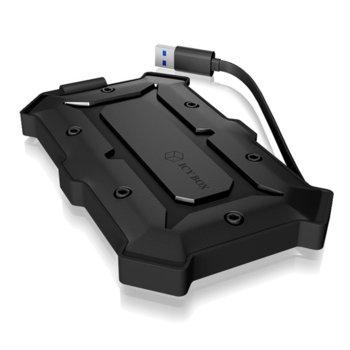 """Кутия 2.5"""" (6.35 cm), RaidSonic IB-276U3, за 2.5"""" SATA HDD/SSD, USB 3.0, прахо и водоустойчива, черна  image"""