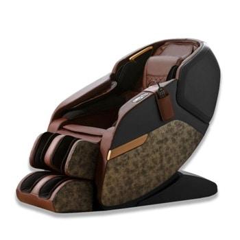 Масажен стол Rexton Z2-CR, 3D масаж, 10 автоматични програми, топлинен механизъм, вграден пулт за управление, вградени тонколони, Bluetooth, кафяв image