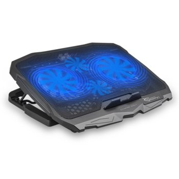 "Охлаждаща поставка за лаптоп White Shark CP-25 ICE WARIOR, за лаптопи до 17.3""(43.9cm), 1500 rpm, 2x вентилатора, USB 2.0 Type A, черна image"