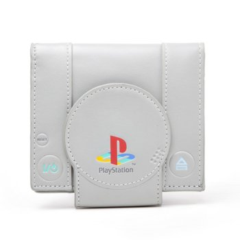 Портмоне Bioworld Playstation Shaped Playstation Bifold, бяло image