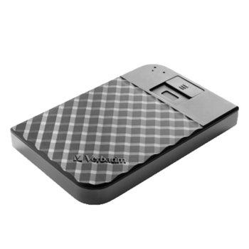 """Твърд диск 1TB, Verbatim Secure, външен, 3.5"""" (8.89 cm), черен, външен, USB 3.1, пръстов отпечатък image"""