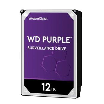 Твърд диск 12TB WD Purple Surveillance, SATA 6Gb/s, 7200rpm, 256MB кеш, 3.5 (8.89cm) image