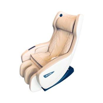 Масажен стол Rexton RK-1900B-RED, 4 масажни глави, еко кожа, въздушни помпи, бежов/бял image