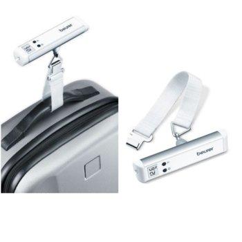 Електронна везна за багаж Beurer LS 10, капацитет 50 кг., фенерче, автоматично включване/изключване, индикатор за за претоварване, бял image