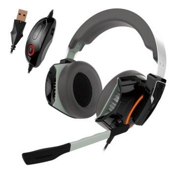 Слушалки Gamdias Hephaestus P1 RGB, микрофон, 7.1 surround, USB, сиви image