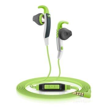 Слушалки Sennheiser MX 686G Sports, микрофон, 18Hz-20kНz честотен диапазон, 1.2 м ĸaбeл, зелени image