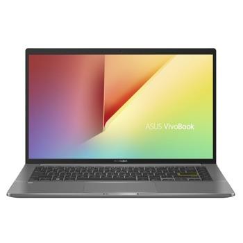 "Лаптоп Asus Vivobook S14 S435EA-WB711R (90NB0SU1-M01430)(зелен), четириярен Tiger Lake Intel Core i7-1165G7 2.8/4.7 GHz, 14"" (35.56 cm) Full HD IPS Anti-Glare Display, (HDMI), 8GB DDR4, 512GB SSD, 2x Thunderbolt 4, Windows 10 Pro image"