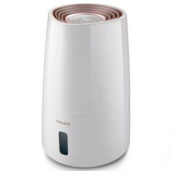 Овлажнител на въздух Philips HU3916/10, 25W, 3 л. резервоар, подходящ за помещения с площ до 45 m2, нощен режим, бял image