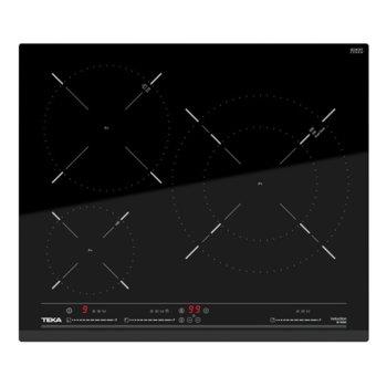 Стъклокерамичен плот за вграждане Teka IZ 6320, 3 нагревателни зони, автоматично изключване за безопастност, сензорно управление тип Multislider PRO, функция Stop & Go, функция iCooking, таймер, черен image