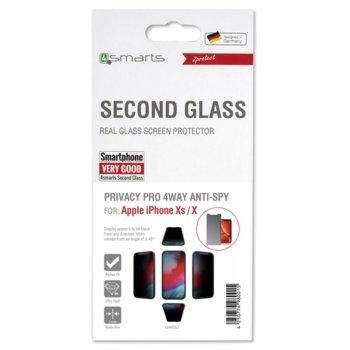 Протектор от закалено стъкло /Tempered Glass/, 4Smarts 4S493327, за Apple iPhone XS/X  image