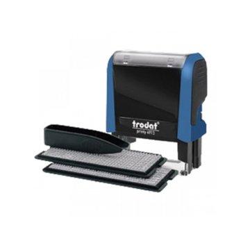 Автоматичен печат Trodat 4913 Typo, 22/58 mm, самозареждащ  image