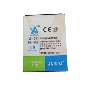 Батерия (заместител) за Samsung Galaxy Note 2(N7100), 3100mAh/3.8V image