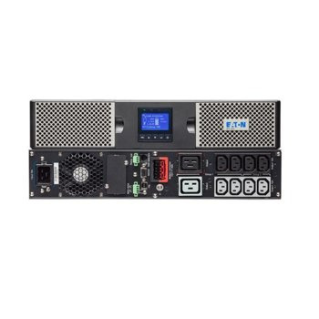UPS Eaton 9PX 9PX1500IRT2U, 1500VA/1500W, LCD дисплей, On-line double conversion, PFC, USB, RS232, Rack/Tower image