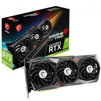 Видео карта Nvidia GeForce RTX 3060, 12GB, MSI GAMING X TRIO, PCI-E 4.0, GDDR6, 192-bit, DisplayPort, HDMI image