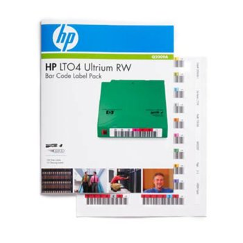 Хартия HP LTO4 Ultrium RW Bar Code label pack (110 pack) image
