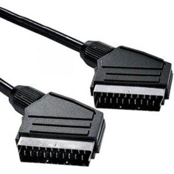 Кабел SCART(м) към SCART(м), 1m, черен image