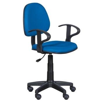 Детски стол Carmen 6012 MR, до 70кг, мрежа, полипропиленова база, газов механизъм за регулиране на височината, газов амортисьор, син image