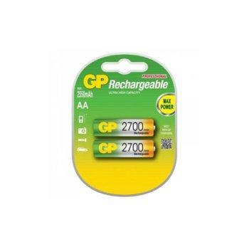 Акумулаторна батерия GP 2700AAHC-2PL2, AA, 1.2V, 2600mAh, NiMH, 2бр. image