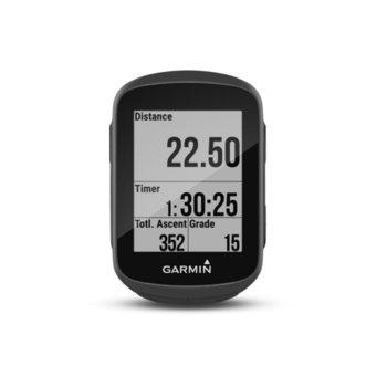 "Навигация за велосипед Garmin Edge 130, 1.8"" (4.57 cm) черно-бял дисплей, IPX7 водоустойчивост, Bluetooth, до 15 часа време за работа, без вградена карта image"