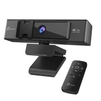 Уеб камера j5create JVCU435, микрофон, 3840x2160/30fps, черна image