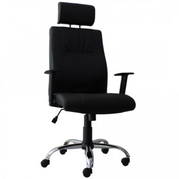 Стол Burokrat Chrome еко кожа черен product