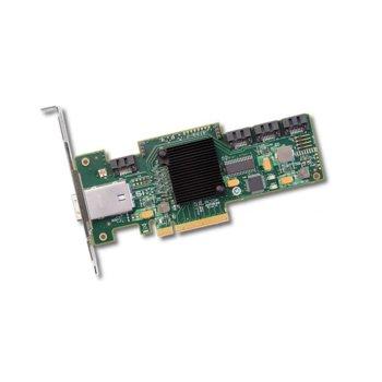 RAID Контролер Broadcom SAS 9212-4I4E, от PCI-Express 2.0 x8(м) към 4x x1 SATA и 1x MiniSAS SFF8088, SATA/SAS 6Gb/12Gb/s, RAID 0, 1, 10, 1E image