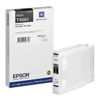 Глава за Epson WorkForce Pro WF-6xxx - Black - P№ C13T908140 - Заб.: 5 000k, 100 ml. image