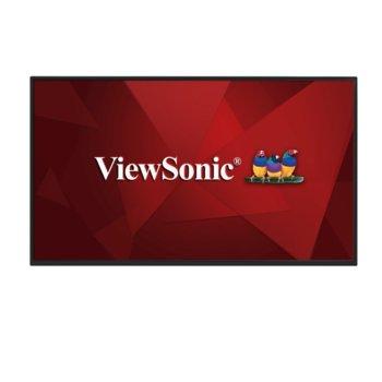 "Дисплей ViewSonic CDM4300R, тъч дисплей, 43"" (109.22 cm), Full HD, HDMI, DVI-I, DisplayPort, RS232 image"