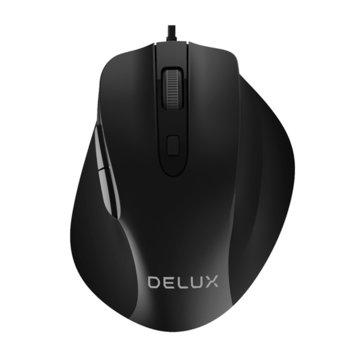 Mишка Delux M517BU, оптична(3200dpi), USB, черна  image
